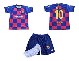 Kit Infantil Do Barcelona Camisa Short E Meia Pronta Entrega