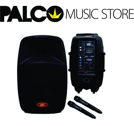 Caixa Ativa Com Bateria Donner Dr12 + 2 Microfones - Palco