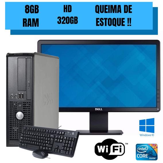 Cpu Dell Core 2 Duo - Gravador De Dvd - Monitor Wide Brinde