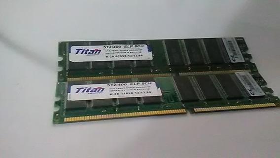 2 Memorias Ddr2 512 400mhz 8ch 300 C/u