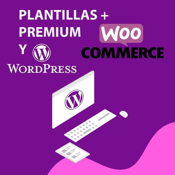 Plantillas Wordpress Y Wooocommerce 100% Originales Actualiz