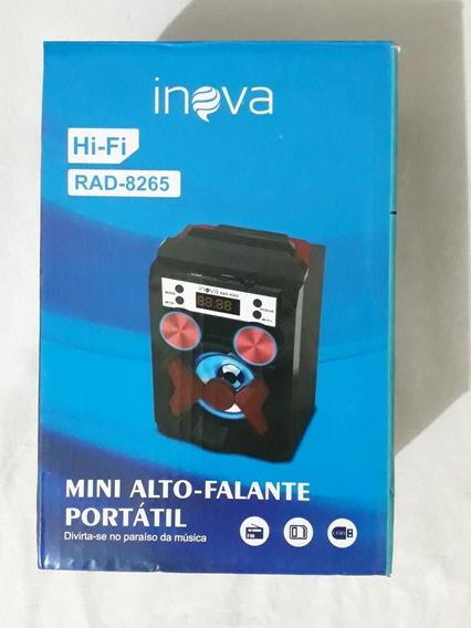 Caixa De Som Portátil Bluetooth Rad-8265(usado,leia Anúncio)