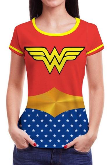 Camiseta Camisa Feminina Roupas Herois Blusinha 3d Famosas