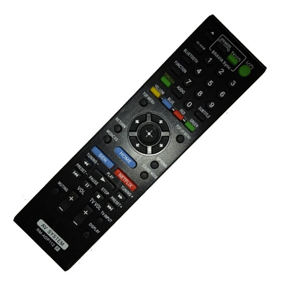 Controle Remoto Home Theater Blu-ray Sony Rm-adp 112 Netflix