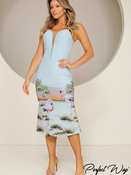 Vestido Perfect Way Flamingos