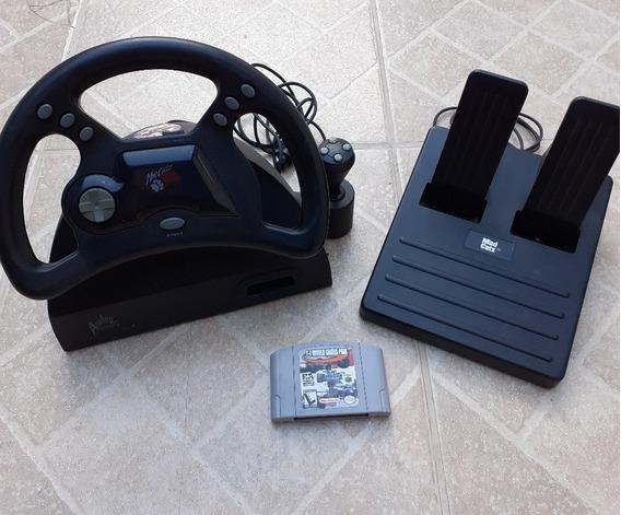 Volante E Pedais Para Nintendo 64