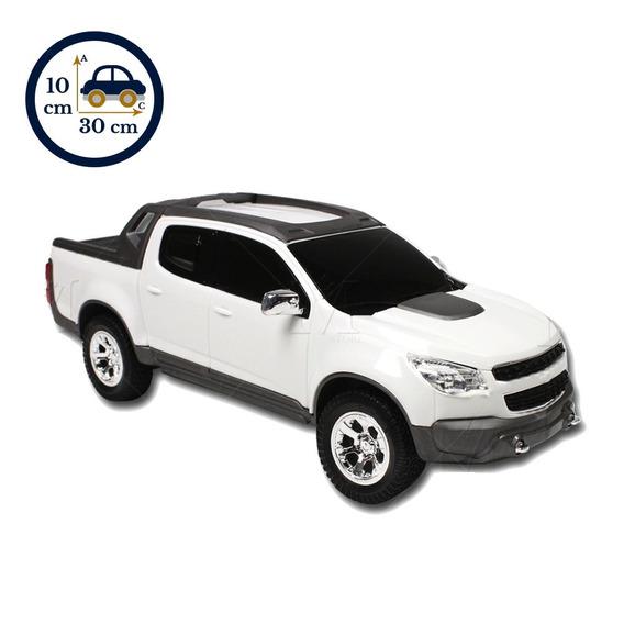 Miniatura Brinquedo Caminhonete Branca S10 Pick-up 1145