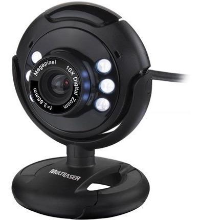 Webcam Multilaser Plug E Play 16mp Nightvision Preto - Wc045