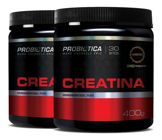 2x Creatina Creapure Pura 400g - Probiotica