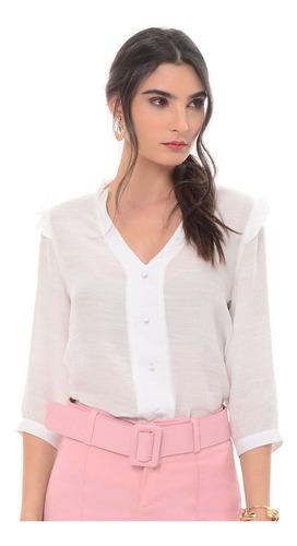 Blusa Para Mujer Blanco - 1323 Fds