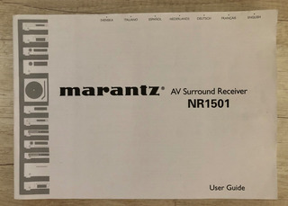 Manual Del Usuario Marantz Av Nr1501