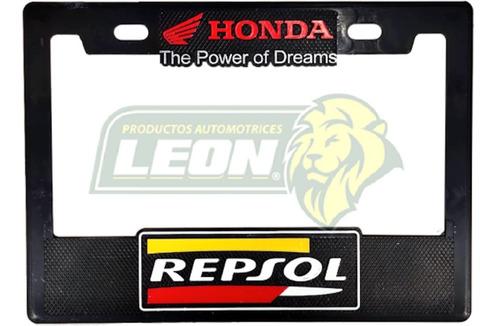 Imagen 1 de 2 de Portaplacas Chica Para Moto 22x15.5cm // Grabado Honda