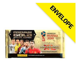 Envelope Premium Gold Cards Fifa Wc Rússia 2018 Adrenalyn Xl