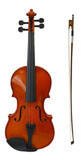 Violin 4/4 Con Estuche Arco Y Resina Estudio