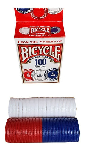 Fichas Casino Bicycle Poker Chips 100 Original 3 Colores