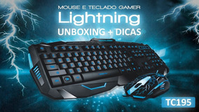 Teclado E Mouse Gamer Multilaser Lightning Tc195