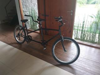Bicicleta Doble Tandem Con Cambios Y Ruedas Vulcanizadas!
