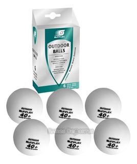 Pelotas Ping Pong Sunflex Outdoor Pack X 6 Unid Pelotitas