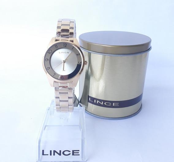 Relógio Lince Feminino Dourado Original Lrg4876l