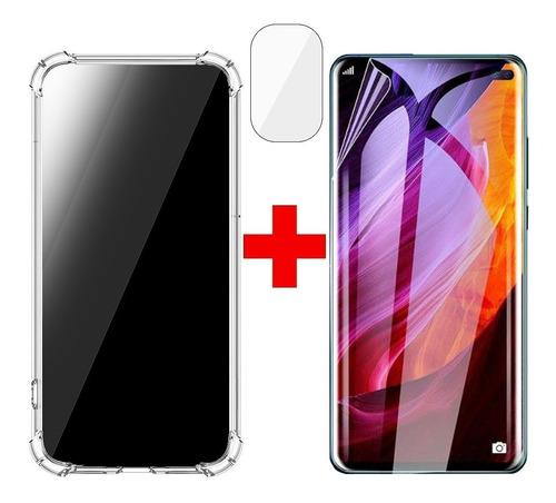 Imagen 1 de 7 de Kit Carcasa Samsung S20 Fe + Lamina Y Cam Hidrogel