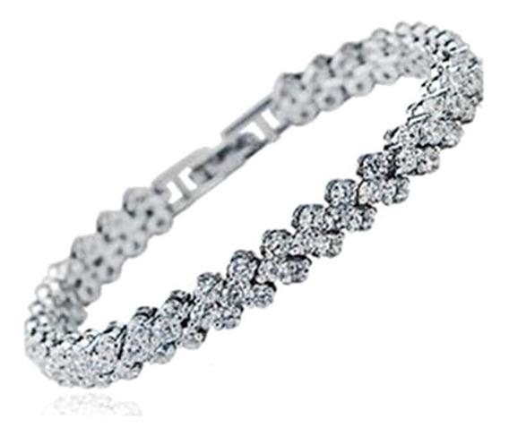 Pulseira Strass Cristal Feminino Bracelete Casamento Joias