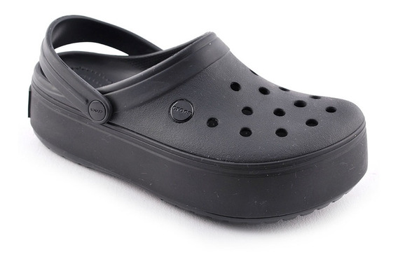 Crocband Plataforma Clog Ne/ne Crocs Unisex