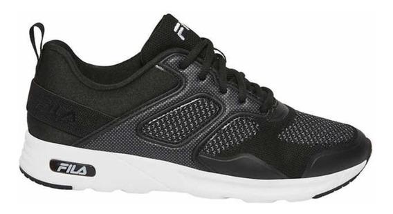Tenis Fila Frame V6 Negro Gris Deportivo Sneaker Memory Foam