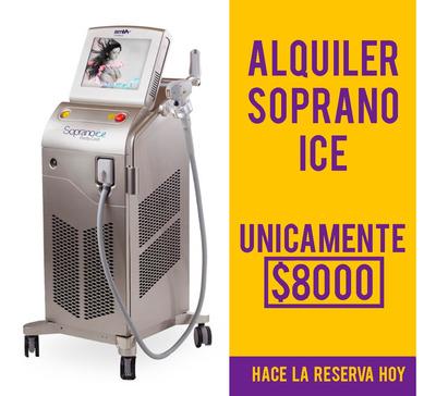Alquiler Soprano Ice Alma Depilacion Definitiva Laser