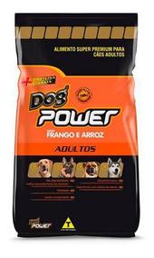 Ração Dog Power Adulto Frango E Arroz 20kg Premium