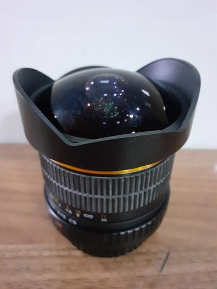 Lente Rokinon 8mm F3.5 Fisheye (olho De Peixe)- Semi Nova