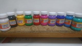 Paquete Con 10 Acrílicos Politec 100ml Colores Variados