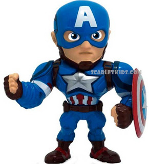 Capitan America Figura Metals 4 Pulgadas Die Cast Jada Metal