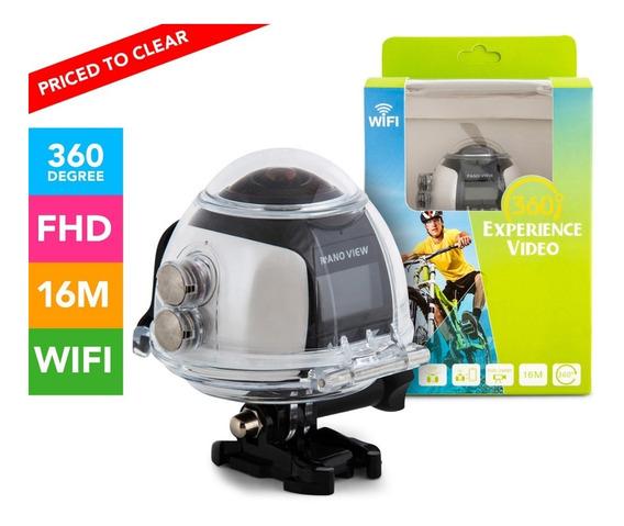 Câmera Panorâmica 360º Wi-fi, Filma 360 Grau Xdv360