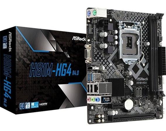 Placa Mãe Asrock H81m Hg4 Intel Lga 1150 Matx Ddr3 Intel