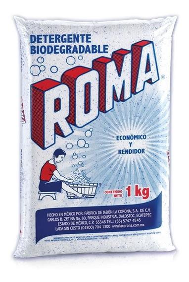 Roma Detergente Biodegradable En Polvo, Caja C/10 Bolsas 1kg