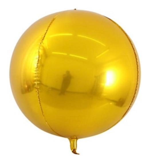 2 Globos Orbz Plata Metálico Esfera 41cm Calidad Helio