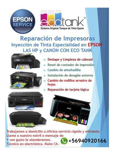 Imagen 1 de 7 de Reparación De Impresoras Epson A Domicilio