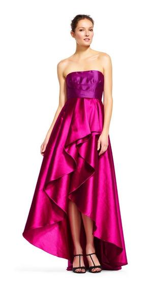 Vestido Strapless Adrianna Papell Talla 4 (s) Rosa Futchia