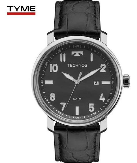 Relógio Technos Masculino Steel 2115mni/0p Couro - C/ Nfe