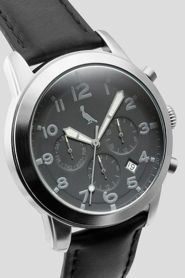 Relogio R/18 Prata/preto Reserva - Color Prata/preto