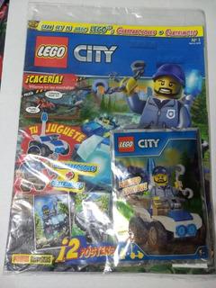 Revista Lego City No. 1 Guardabosques + Cuatrimoto