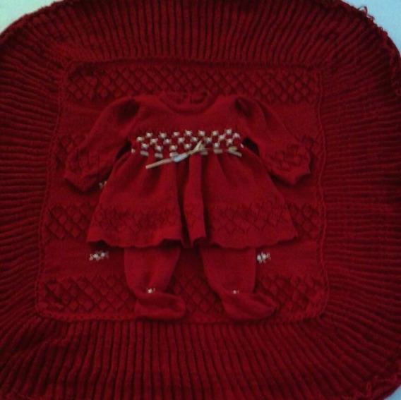Maternidade Manta Vestido Calça Brinde Luva E Touca Ref.106