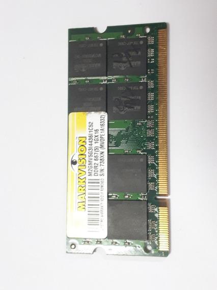 Memoria Markvision Ddr2 667mhz 1gb Pc2-5300s Usado Notebook