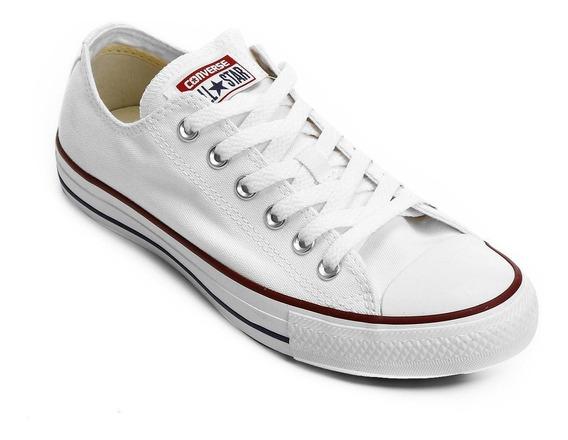 Tenis All Star Converse Branco Lona Adulto Original + Nf