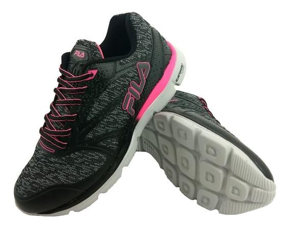 Zapatillas Fila Illusion Gris Running Mujer 745534 Empo2000