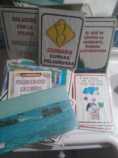 Lote De Carteles De Frases Antiguos. Pack De 35 Unidades