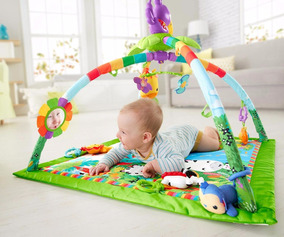 Tapete Bebe Rainforest Deluxe Gym Fisher Price