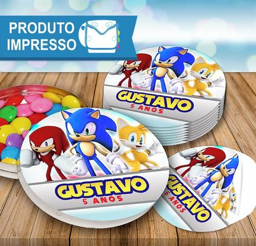 50 Rotulo Adesivo Latinha Sonic + Frete Grátis