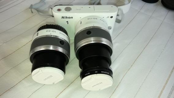 Câmera Nikon J1 C/ Dois Tipos De Lente 10-30 E 30-110