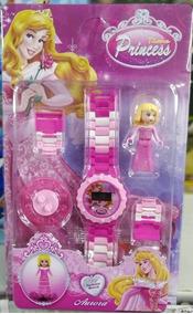 Relógio Infantil Pulseira Personagem Princesas Lego